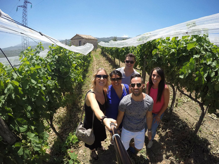 Wine tours selfie